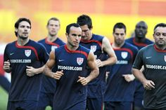U.S. Soccer Qualifier TV | Landon Donovan (c.) and his U.S. soccer teammates are looking to wrap ...
