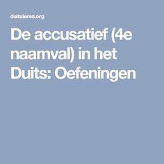 De accusatief (4e naamval) in het Duits:Oefeningen