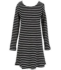 Copper Key Big Girls 716 Striped LongSleeve ALine Dress #Dillards