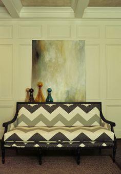 Jamie Beckwith, Beckwith Interiors - F.Shumacher fabric (High Voltage - Smoke)