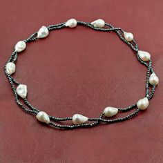 Baroque Pearl & Spinel Necklace