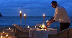 Private dinner for two... the perfect end to the perfect day.