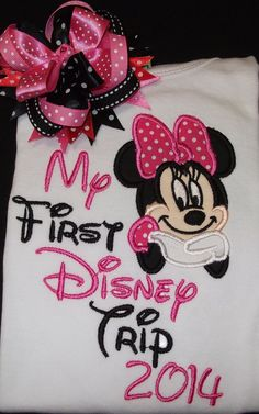 Hey, I found this really awesome Etsy listing at https://www.etsy.com/listing/166826382/my-first-disney-trip-shirt-with-matching
