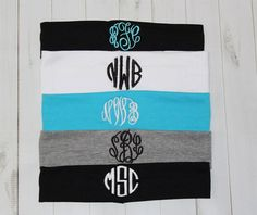 Monogrammed Headband Cotton Stretch Head band 2 by MommasSewCrazy