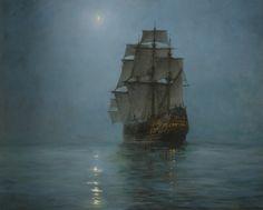 fleurdulys: The Crescent Moon - Montague Dawson