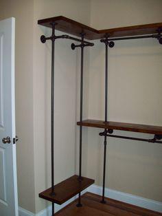 black pipe closet
