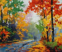 FALL Oil Painting Trees painting Autumn Painting artwork Graham gercken – Alice Lin – Join in the world of pin Oil Painting Trees, Simple Oil Painting, Oil Painting Pictures, Easy Canvas Painting, Autumn Painting, Painting Art, Easy Landscape Paintings, Impressionist Landscape, Nature Paintings