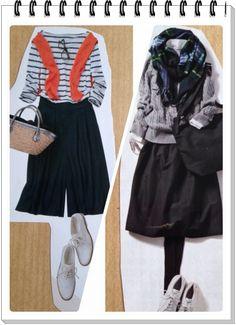 骨格診断ウェーブさんを嫌わないで~!甘くないウェーブさんコーディネートをシェア♪ | 名古屋で骨格診断・パーソナルカラー診断・メイクに起業・プロ養成40代50代の脱地味!華やか上品垢抜けコーディネート!ヨウコの=MyOwnStyle= Yoko, Fasion, Skater Skirt, High Waisted Skirt, Personal Style, Spring Summer, How To Wear, How To Make, Waves