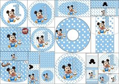 First Year of Mickey with Polka Dots: Free Printable Candy Bar Labels. First Birthday Party Decorations, Unicorn Birthday Parties, Baby Birthday, Mickey Party, Minnie Mouse Party, Mouse Parties, Mickey 1st Birthdays, Mickey Mouse Clubhouse Birthday, Deco Candy Bar