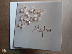 Apróvirágos esküvői meghívó, Esküvő, Naptár, képeslap, album, Meghívó, ültetőkártya, köszönőajándék, Képeslap, levélpapír, Papírművészet, Meska Wedding Invitations, Frame, Home Decor, Picture Frame, Decoration Home, Room Decor, Wedding Invitation Cards, Frames, Hoop