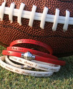 Great accessory in support of your favorite football team this fall.  #NCAA #NFL #RollTide #Alabama #footballfans     www.faithandlovebracelets.com