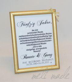 Goldene Hochzeit Geschenk Bilderrahmen