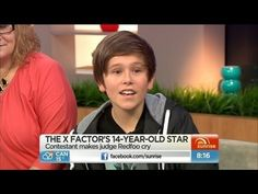 Fourteen-year-old X Factor sensation Jai Waetford chats about the audition that made Redfoo cry and even gives Kochie and Mel an impromptu performance! Jai Waetford, 14 Year Old, Factors, Love Him, Sunrise, Youtube, Sunrises, Youtubers, Youtube Movies
