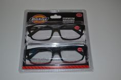 NEW Dickies 2.50 Premium Reading Glasses Readers 2 Pairs RECTANGLE FRAME NIB #Dickies