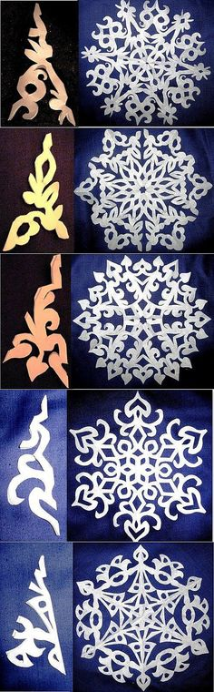 New diy paper design snowflake template ideas Holiday Crafts, Fun Crafts, Diy And Crafts, Christmas Crafts, Crafts For Kids, Arts And Crafts, Christmas Decorations, Diy Paper, Paper Art