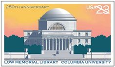 Founded as King's College by royal charter of King George II of England in 1754, the institution was renamed Columbia College after the Revolutionary War. Today it is officially known as Columbia University in the City of New York. In 2004, it was honored on a stamped card to commemorate the University's 250th anniversary.