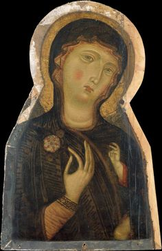 Madonna and Child, Master of the Magdalen (Italian, Florentine, active 1265-95) ca. 1280 , tempera on wood