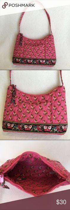 8bd7921b56  Retired  Vera Bradley Pink Pansy Molly Purse  Retired  Vera Bradley Molly  purse