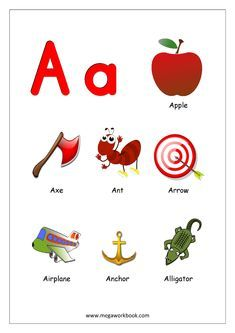 Free Printable English Worksheets - Alphabet Reading (Letter Recognition And Objects Starting With Each Letter) - MegaWorkbook Letter A Words, Alphabet Words, Alphabet Phonics, Alphabet Pictures, Alphabet Charts, Alphabet Coloring Pages, Alphabet For Kids, Alphabet Worksheets, Alphabet Activities