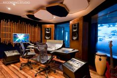 Recording studio control room -- Gee Jam Studios [photo from the Argosy dream studio blog]