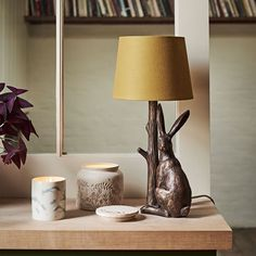 Want to go for a natural vibe? Try introducing some woodland creatures to your home. Faux, of course. Art Deco Table Lamps, Table Lamps For Bedroom, Table Lamp Wood, White Table Lamp, Bedside Table Lamps, Bedroom Decor, Desk Lamp, Bedroom Ideas, Woodland Living Room