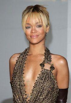 Rihanna bangs