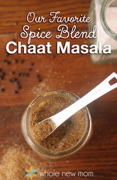 Like making your own spice blends? This Chat Masala Indian Seasoning Blend is our favorite spice mix - hands down. Homemade Spice Blends, Homemade Spices, Homemade Seasonings, Spice Mixes, Spice Rub, Homemade Food, Masala Powder Recipe, Masala Recipe, Chaat Recipe