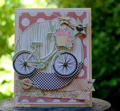 Life ain't always beautiful, but it's a beautiful ride. ~ Gary Allan Another card featuring Papertrey Ink's Pedal Pusher stamp set. #papertrey