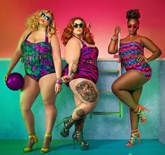 Monif C. Swim http://stylishcurves.com/plus-size-designer-monif-c-launches-new-swimwear-collection-featuring-tess-munster/