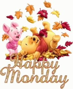 Good morning everyone! winnie-the-pooh - happy monday Happy Monday Gif, Happy Monday Images, Happy Gif, It's Monday, Monday Morning, Manic Monday, Monday Memes, Wednesday, Tuesday