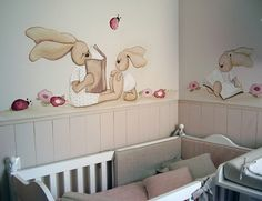 Murales infantiles de Magda Playà - Mamidecora Future Baby, Kids And Parenting, Baby Room, Toy Chest, Storage Chest, Toddler Bed, Cabinet, Furniture, Home Decor