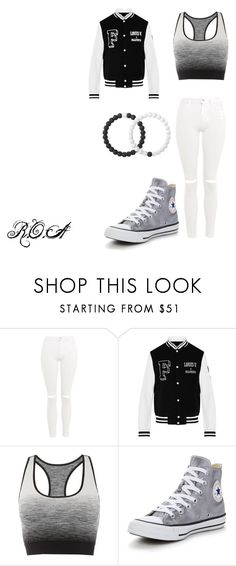 r.o.a #2 by rosay-cii on Polyvore featuring Topshop, Pepper & Mayne, Converse and Lokai
