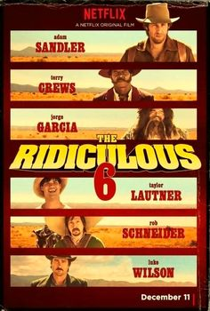 Adam Sandler, Rob Schneider, Luke Wilson, Terry Crews, Jorge Garcia and Taylor Lautner in The Ridiculous 6 Comedy Movies, Hd Movies, Movies To Watch, Movies Online, Movie Tv, Movies Free, Funny Films, Terry Crews, Taylor Lautner
