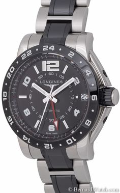 Longines - Admiral GMT : L36694567. Width: 42.5 mm / Height: 51 mm / Thickness: 15.5 mm / Lug Width: 21 mm