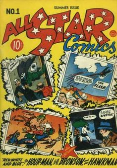 All Star Comics #1, Summer, 1940 from DC Comics.