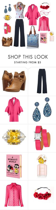 """Floral Summer Whimsy"" by tamarilloh ❤ liked on Polyvore featuring Frye, Chloé, Delpozo, Fantasia by DeSerio, Hermès, Olympia Le-Tan, Marc Jacobs, Yves Saint Laurent and Charlotte Russe"