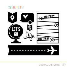 Free die-cut files from Studio Calico.  Great for project life! Wanderlust Cut Designs.