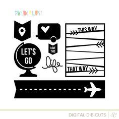 Free cut file 'Wanderlust Cut Designs' at Studio Calico #Silhouette #CutFile