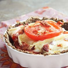 Tomato, Bacon and Brie Tart (Low Carb and Gluten Free) - I Breathe... I'm Hungry...