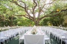 Photography: 13:13 Photography - 1313photography.com  Read More: http://www.stylemepretty.com/2014/09/25/coconut-grove-miami-garden-wedding-at-villa-woodbine/