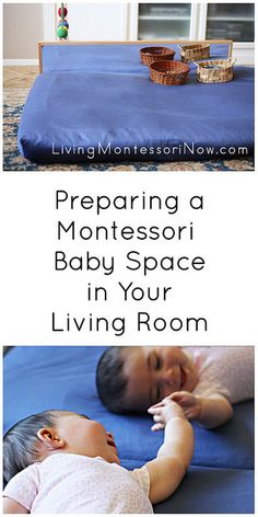 Resources for preparing a Montessori baby space in the living room and links to resources for preparing a Montessori baby room