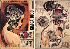Vicente_anatomias-comp by burnlab, via Flickr Post Apocalyptic, Artsy Fartsy, Surrealism, Illustration, Cool Art, Steampunk, Sci Fi, Collage, Superhero