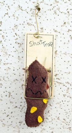 Shat Trap Dead Poo Wall Art by Fecalfriends on Etsy, $14.00