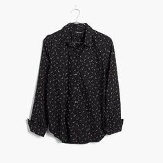 ae49234518dcb9 Madewell Shrunken Ex-Boyfriend Shirt In Crescent Moon Printed Blouse, Moon  Print, Shirt