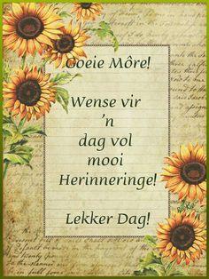 Lekker Dag, Goeie More, Good Morning Wishes, Afrikaans