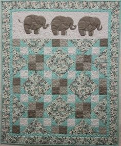 elephant patchwork quilt pattern - Google Search
