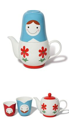 Matroyshka Tea For Two Set me urge para mi y Mati