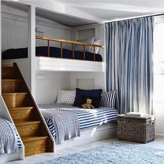 """6,698 Likes, 46 Comments - Vibeke J Dyremyhr (@interior_delux) on Instagram: """"Love a beautiful bunk bed #bunkbeds #bedrooms #bedroomdesign #kidsroom #soverom #interior_delux…"""""""