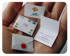 World's Smallest Post Service - Custom Party and Wedding Invitations, Tiny Letters and Tiny Packages