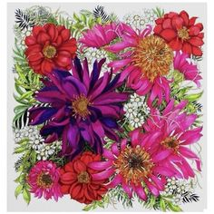 Another beautiful colour version of my illustration ❤️ from #floribunda. I need to find out who the colourist is... Can anyone help?!! Love the deep purple Dahlia in the middle